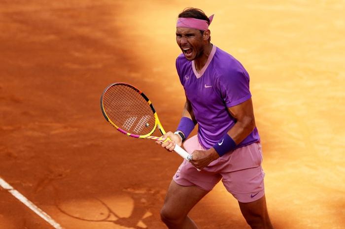 Djokovic thắng liên tiếp hai trận trong ít giờ để đấu Nadal tại chung kết Rome Masters - Ảnh 10.