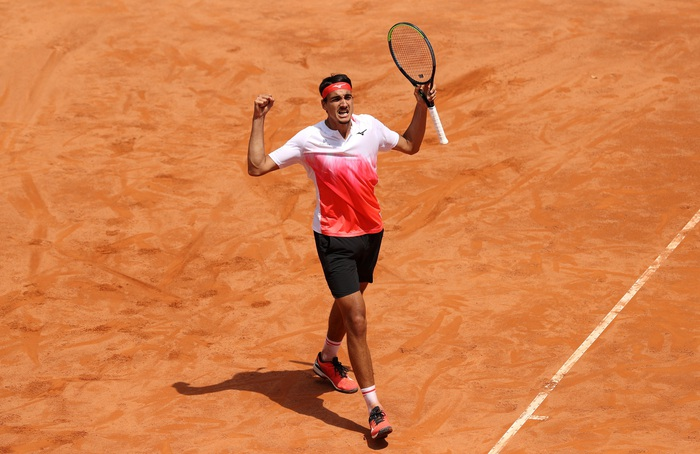 Djokovic thắng liên tiếp hai trận trong ít giờ để đấu Nadal tại chung kết Rome Masters - Ảnh 12.