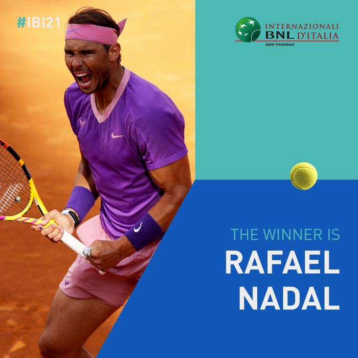 Đánh bại địch thủ Djokovic, Nadal lần thứ 10 vô địch Rome Masters - Ảnh 1.