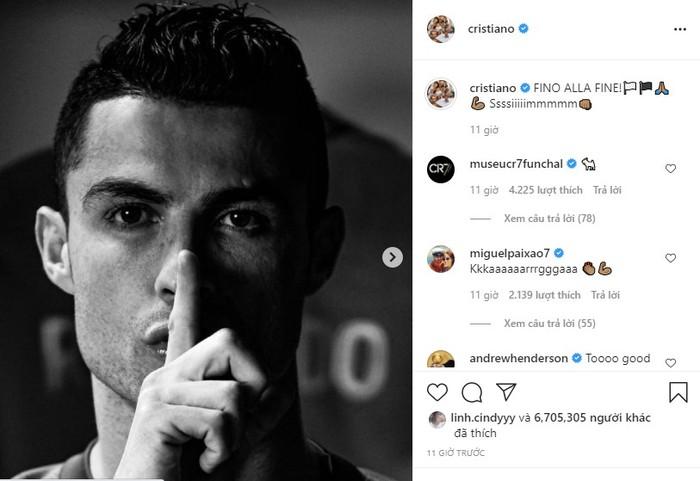 """Juve lách qua khe cửa hẹp, Ronaldo đăng đàn """"khóa miệng"""" anti-fan - Ảnh 1."""