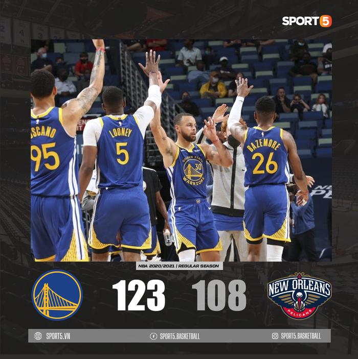 Ném 3 hơn cả đội New Orleans Pelicans cộng lại, Stephen Curry đưa Golden State Warriors đến chiến thắng 15 điểm - Ảnh 3.