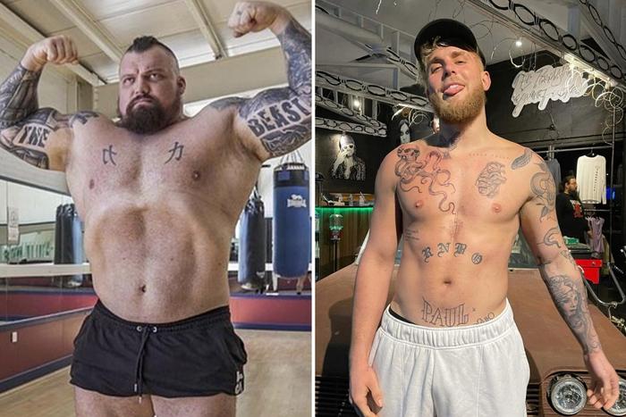 """Chênh nhau tới 70 kg, """"Người khỏe nhất hành tinh"""" vẫn quyết thách đấu Youtuber Jake Paul - Ảnh 1."""