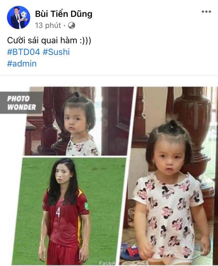 Bã xã Quế Ngọc Hải thích thú với ảnh chế phiên bản nữ của các cầu thủ tuyển Việt Nam  - Ảnh 3.
