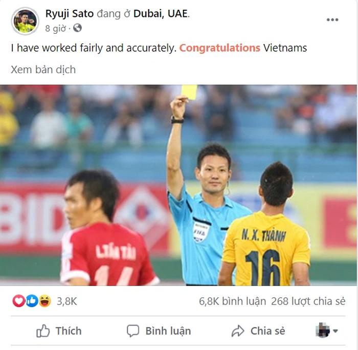 Cổ động viên tìm đến nick fake của trọng tài Sato Ryuji xả hận, báo Malaysia cũng bị lừa - Ảnh 2.