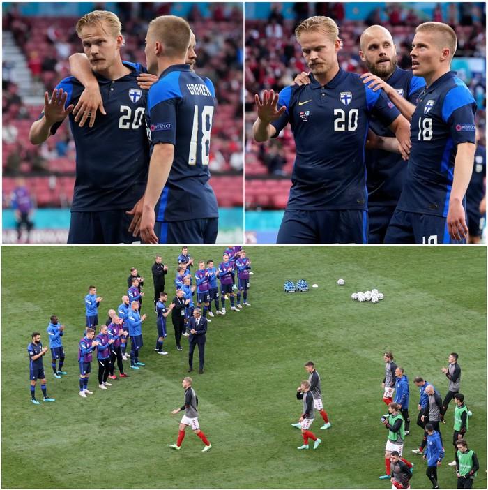 Lá Quốc kỳ Phần Lan che cho Eriksen và những hình ảnh khiến cả thế giới quặn thắt con tim - Ảnh 13.