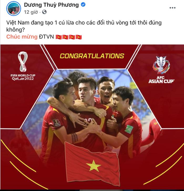 Hội WAGs phát cuồng vì tuyển Việt Nam vào vòng loại 3 World Cup - Ảnh 1.