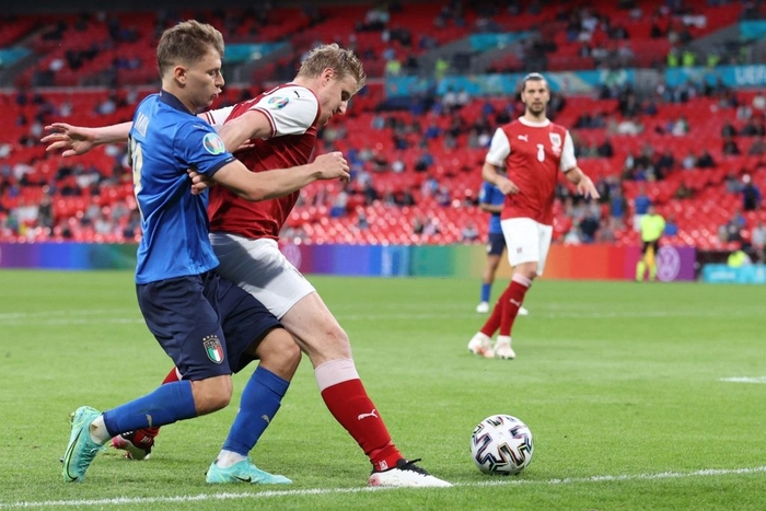 Thắng nghẹt thở Áo với tỷ số 2-1 ở hiệp phụ, Italia vào tứ kết Euro 2020 - Ảnh 3.