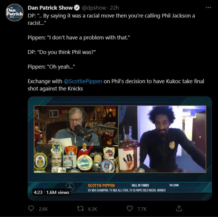 """Scottie Pippen cáo buộc """"thầy cũ"""" Phil Jackson phân biệt chủng tộc - Ảnh 3."""