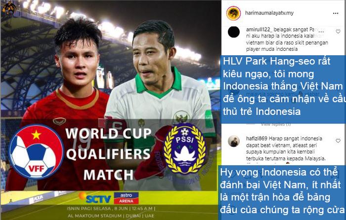 Nghe theo fake news, fan Malaysia cổ vũ Indonesia chiến thắng để thầy Park khăn gói về nước - Ảnh 2.
