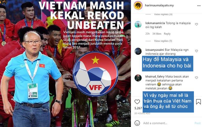 Nghe theo fake news, fan Malaysia cổ vũ Indonesia chiến thắng để thầy Park khăn gói về nước - Ảnh 1.