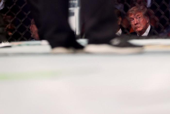 Ông Donald Trump cùng dàn khách mời VIP tới dự khán trong ngày Conor McGregor bị gãy chân kinh hoàng - Ảnh 3.