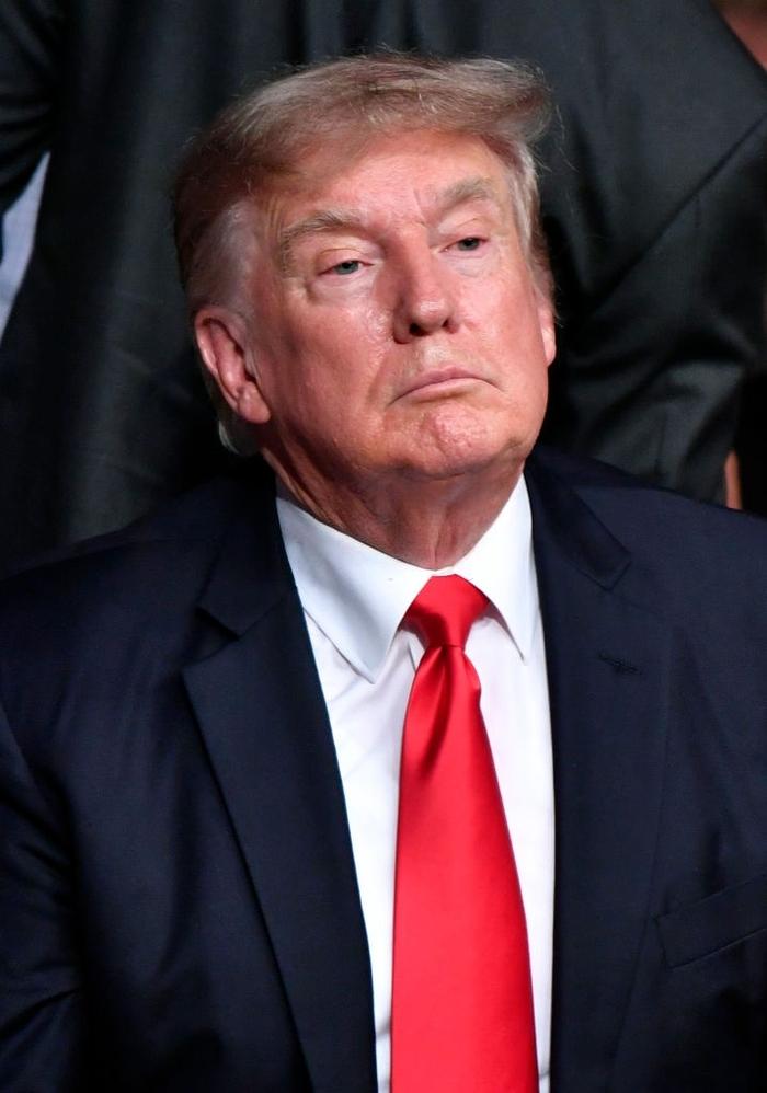 Ông Donald Trump cùng dàn khách mời VIP tới dự khán trong ngày Conor McGregor bị gãy chân kinh hoàng - Ảnh 1.