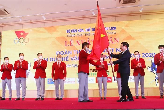 Lễ xuất quân của đoàn Thể thao Việt Nam tham dự Olympic 2020  - Ảnh 1.