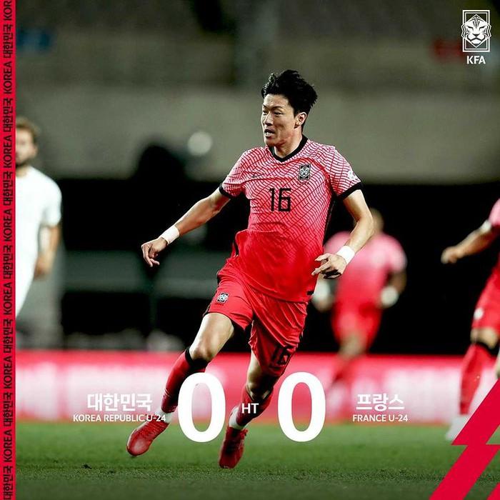 Giao hữu Olympic Hàn Quốc 1 - 2 Olympic Pháp: Thủ môn đội chủ nhà mắc sai lầm khó đỡ - Ảnh 3.