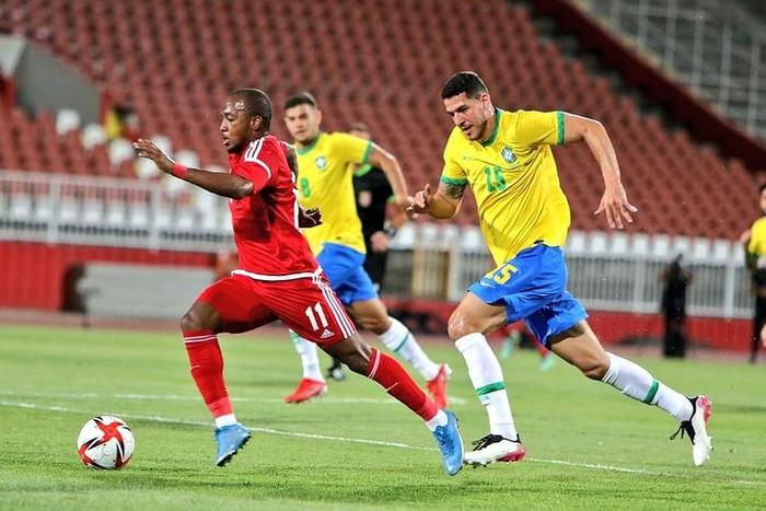 Giao hữu Olympic Brazil 5-2 Olympic UAE: Tài năng trẻ của Arsenal, Real Madrid ghi bàn - Ảnh 4.