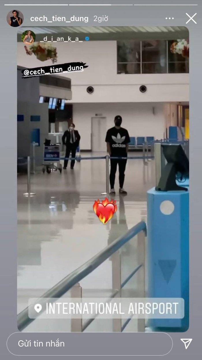 Bùi Tiến Dũng ôm chặt bạn gái mẫu Tây ở sân bay Tân Sơn Nhất - ảnh 2