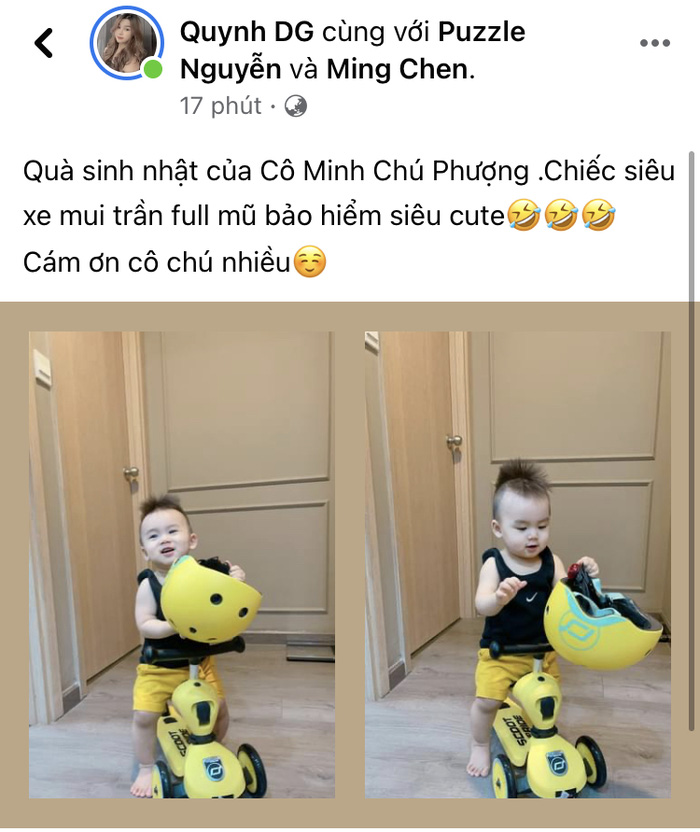 Công Phượng, Viên Minh gửi quà sinh nhật xịn xò cho con trai của Võ Huy Toàn - Ảnh 1.