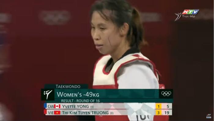 """Trương Thị Kim Tuyền """"lấy nhu thắng cương"""" đả bại đại diện Canada trận ra quân Taekwondo Olympic Tokyo 2020 - Ảnh 8."""