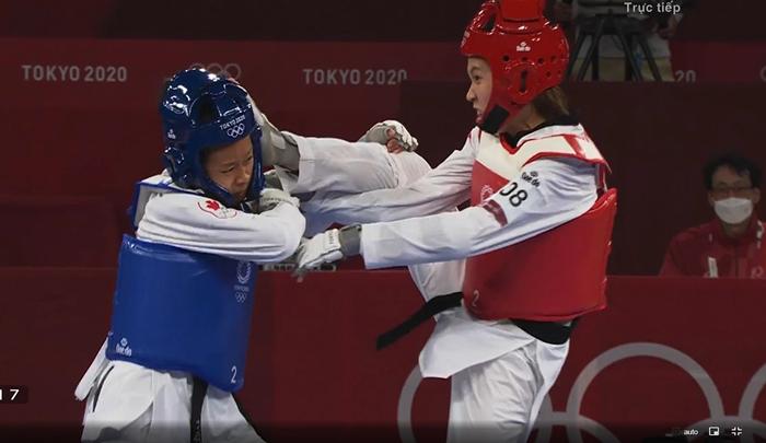 """Trương Thị Kim Tuyền """"lấy nhu thắng cương"""" đả bại đại diện Canada trận ra quân Taekwondo Olympic Tokyo 2020 - Ảnh 4."""