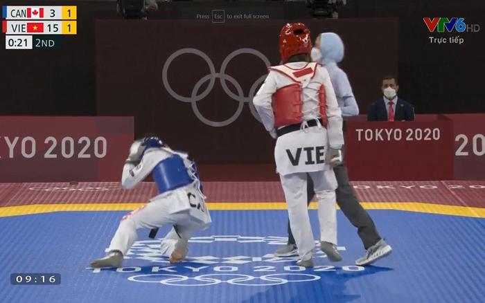 """Trương Thị Kim Tuyền """"lấy nhu thắng cương"""" đả bại đại diện Canada trận ra quân Taekwondo Olympic Tokyo 2020 - Ảnh 3."""