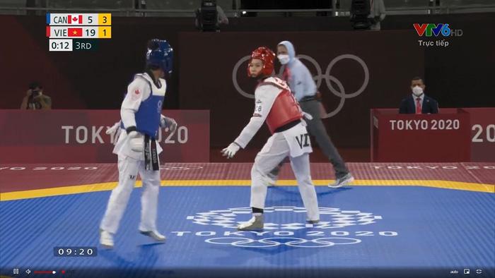 """Trương Thị Kim Tuyền """"lấy nhu thắng cương"""" đả bại đại diện Canada trận ra quân Taekwondo Olympic Tokyo 2020 - Ảnh 6."""