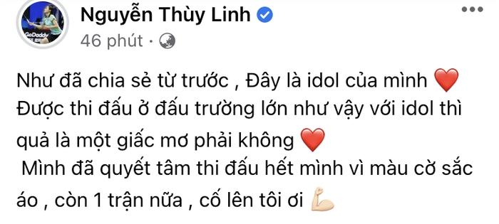 Hotgirl cầu lông Nguyễn Thuỳ Linh tặng quà lưu niệm cho tay vợt số 1 thế giới ở Olympic Tokyo 2020 - Ảnh 1.