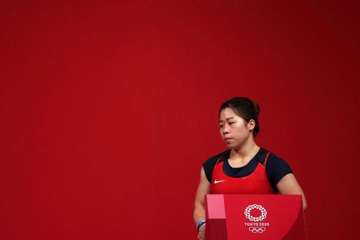 Xúc động khoảnh khắc Hoàng Thị Duyên vẫy tay chào tạm biệt giấc mơ Olympic Tokyo 2020 - Ảnh 2.
