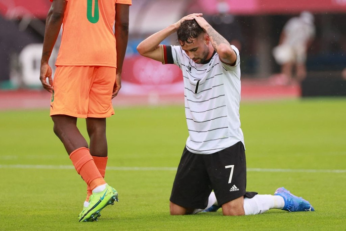 Bị Olympic Bờ Biển Ngà cầm hòa 1-1, Olympic Đức ngậm ngùi rời Thế vận hội ngay sau vòng bảng - Ảnh 4.