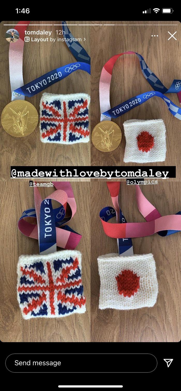 Góc đáng yêu: Nam thần nhảy cầu tự may túi đựng huy chương Olympic bằng len… cho khỏi xước - Ảnh 3.