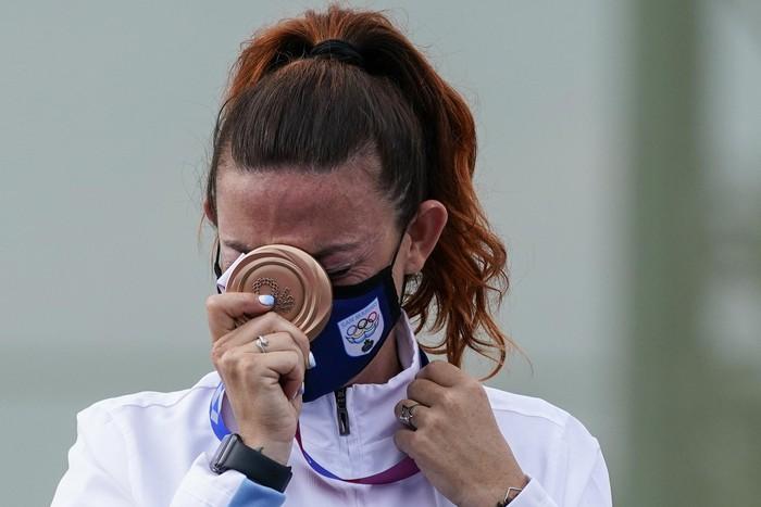 Những khoảnh khắc trào nước mắt của người chiến thắng, kẻ chiến bại tại Olympic Tokyo 2020 - ảnh 8