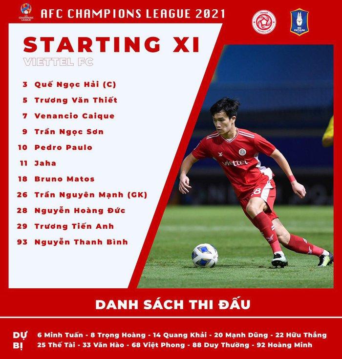Trực tiếp Viettel FC vs BG Pathum, 21h ngày 5/7: Phải thắng để nuôi hy vọng  - Ảnh 1.