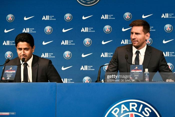 Messi nói gì trong buổi họp báo ra mắt Paris Saint-Germain? - Ảnh 1.