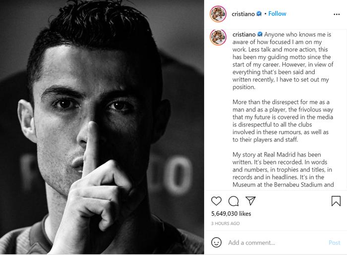 Ronaldo lên tiếng cực gắt sau khi liên tục bị đồn thổi về tương lai - Ảnh 2.