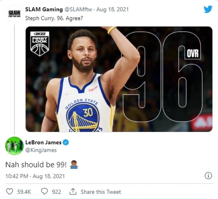 Phản ứng không mấy hài lòng của LeBron James, Kevin Durant trước chỉ số NBA 2K22 - Ảnh 4.