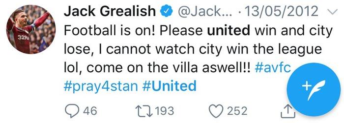 """Grealish xóa tweet """"dìm hàng"""" Manchester City - Ảnh 1."""