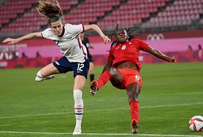VAR vào cuộc, nữ Canada nhọc nhằn vượt qua Mỹ với tỷ số tối thiểu 1-0 để giành vé vào chơi trận chung kết - Ảnh 4.