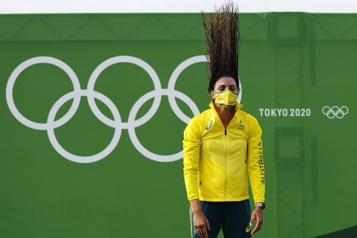 Ảnh Olympic Tokyo 2020: Những kiểu tóc độc đáo và kỳ công thu hút ánh nhìn - Ảnh 19.