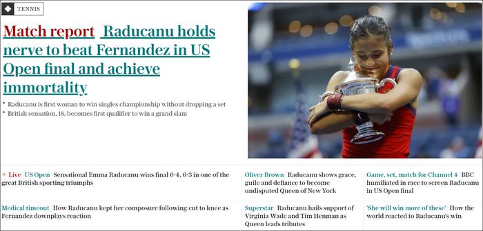 Chiếm spotlight của Ronaldo, nữ tay vợt tuổi teen Raducanu khiến fan và truyền thông Anh phát cuồng khi vô địch US Open - Ảnh 8.