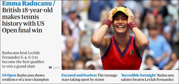 Chiếm spotlight của Ronaldo, nữ tay vợt tuổi teen Raducanu khiến fan và truyền thông Anh phát cuồng khi vô địch US Open - Ảnh 7.