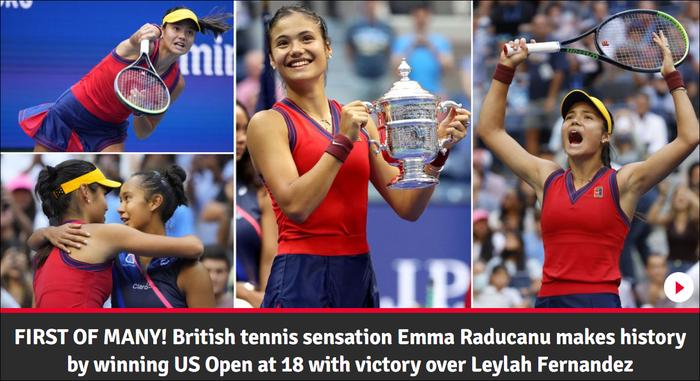 Chiếm spotlight của Ronaldo, nữ tay vợt tuổi teen Raducanu khiến fan và truyền thông Anh phát cuồng khi vô địch US Open - Ảnh 9.