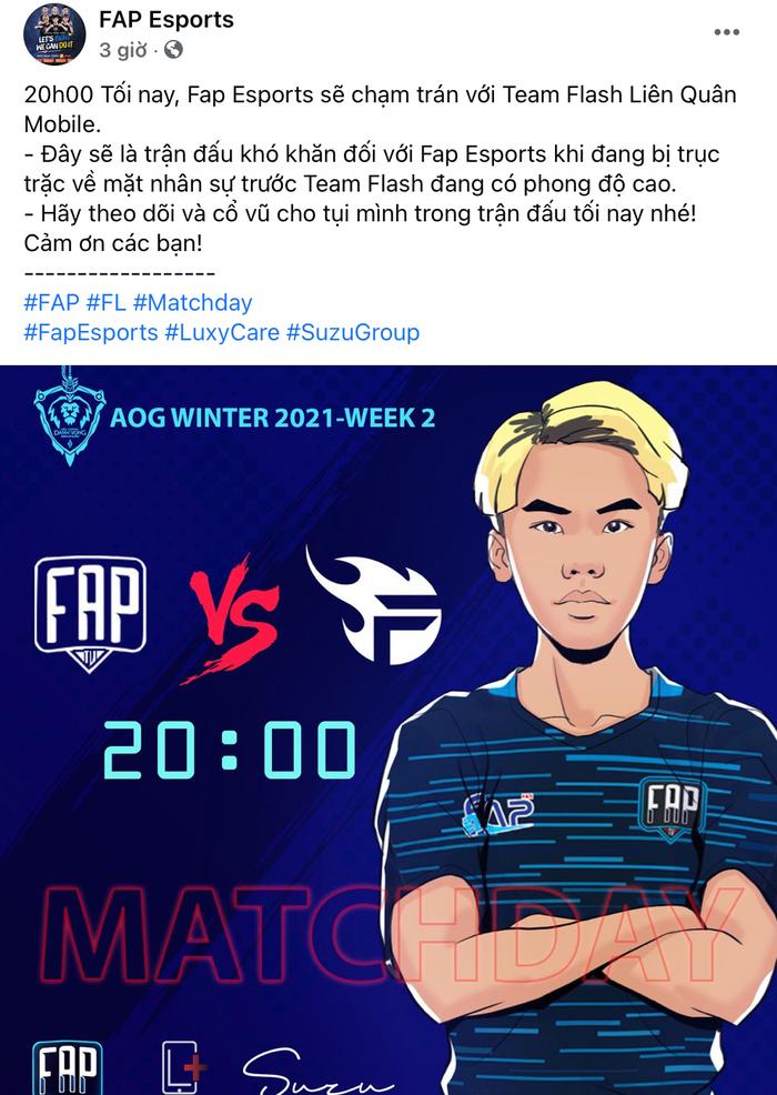 NÓNG: FAP Esports gặp biến cố trước thềm đại chiến Team Flash - Ảnh 2.
