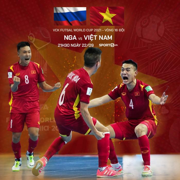 Trực tiếp Nga vs Việt Nam, VCK futsal World Cup 2022: Thách thức quá tầm - Ảnh 2.