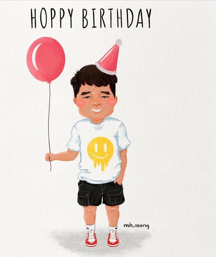 Đức Chinh lấm lem mặt mũi sau tiệc sinh nhật cực vui ở tuyển Việt Nam - Ảnh 2.