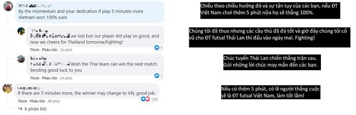 Ấm lòng fan Đông Nam Á động viên tuyển futsal Việt Nam: Thêm 5 phút nữa Việt Nam thắng chắc! - Ảnh 1.
