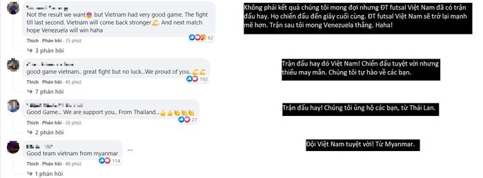 Ấm lòng fan Đông Nam Á động viên tuyển futsal Việt Nam: Thêm 5 phút nữa Việt Nam thắng chắc! - Ảnh 2.