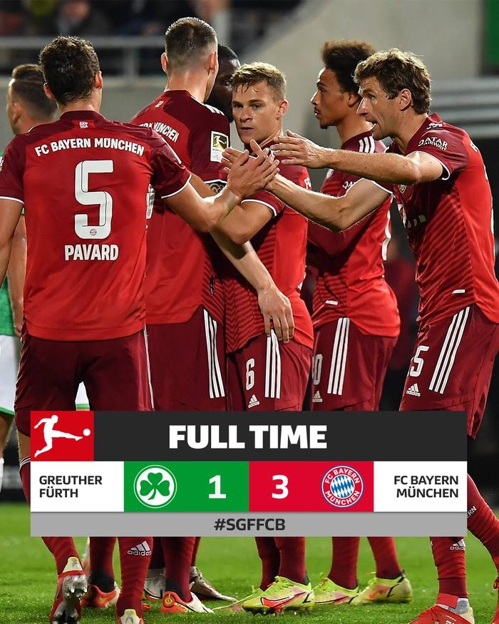 Bayern Munich độc chiếm ngôi đầu Bundesliga dù chơi thiếu người - Ảnh 1.
