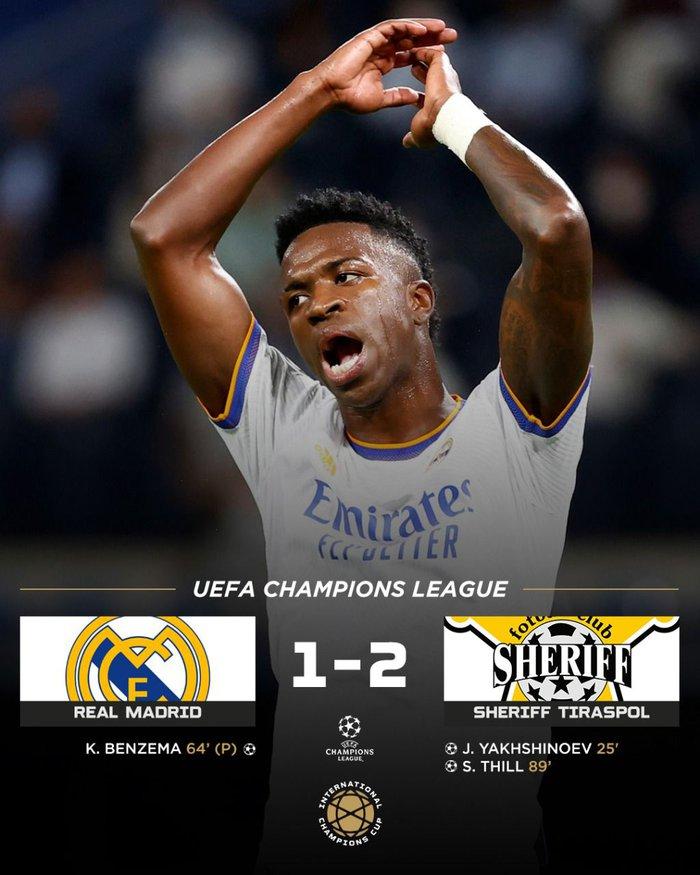 Sốc: Tí hon Sheriff Tiraspol bắn hạ Real Madrid ngay tại Bernabeu - ảnh 1