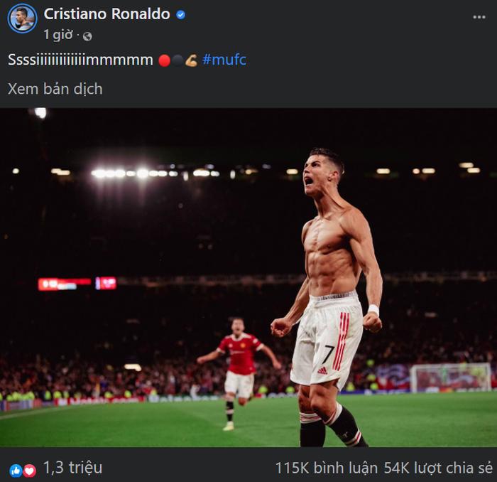 Fan MU phát cuồng vì ngày thi đấu thăng hoa rực rỡ của Ronaldo - Ảnh 1.