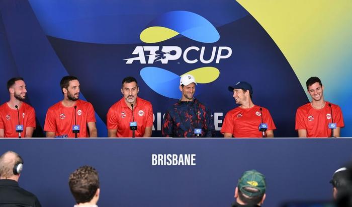 """ATP Cup 2020: """"Trai hư"""" Kyrgios hóa ngoan với hành động ai cũng trầm trồ, màn phát quốc ca lỗi khiến cả team nhăn mặt khó chịu - Ảnh 8."""