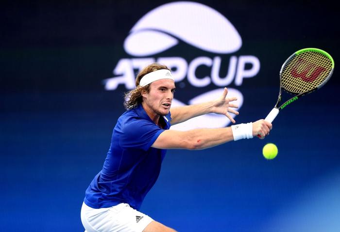 """ATP Cup 2020: """"Trai hư"""" Kyrgios hóa ngoan với hành động ai cũng trầm trồ, màn phát quốc ca lỗi khiến cả team nhăn mặt khó chịu - Ảnh 9."""
